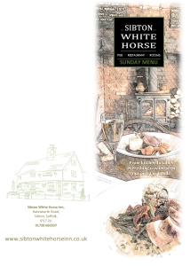 SWH Sunday Menu Cover - the client wanted a slightly different format for that.